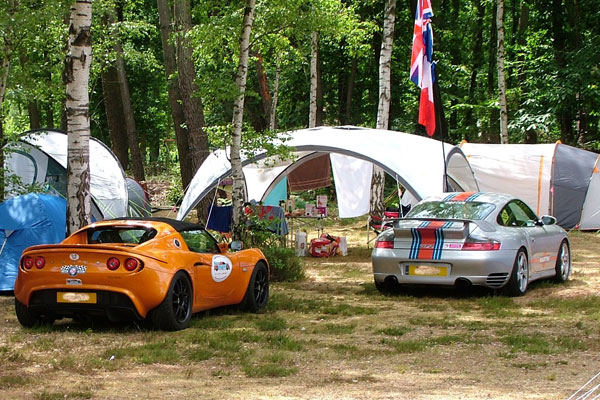 Camping at Guécélard for Le Mans 2017