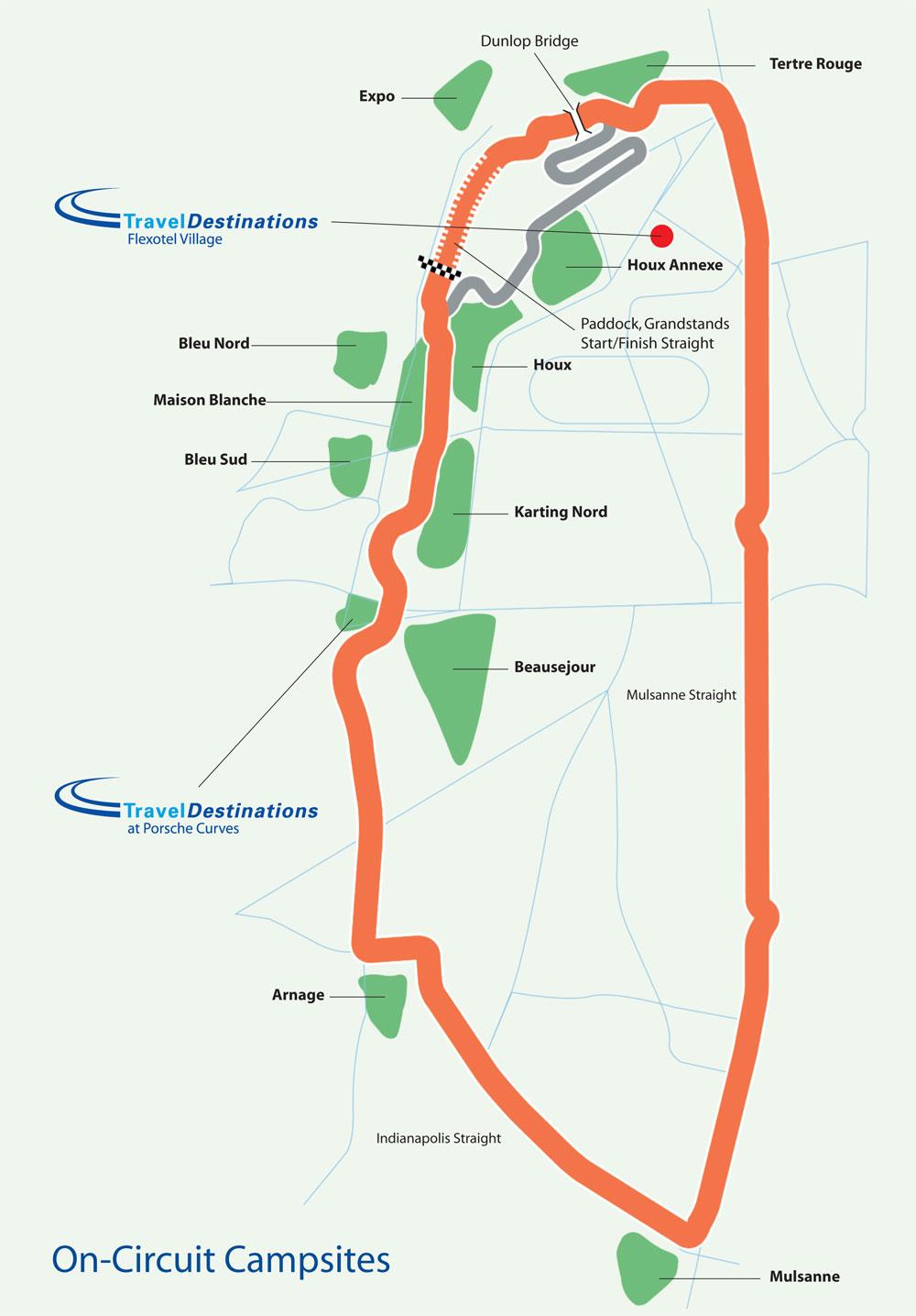 Le Mans Map Circuit Map   Le Mans Race
