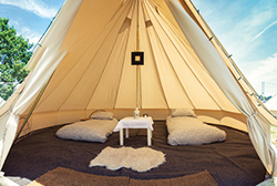 Travel Destinations' Event Tents – Le Mans Glamping 2020